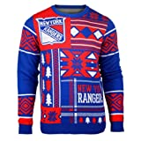 New York Rangers Patches Crewneck NHL Ugly Sweater