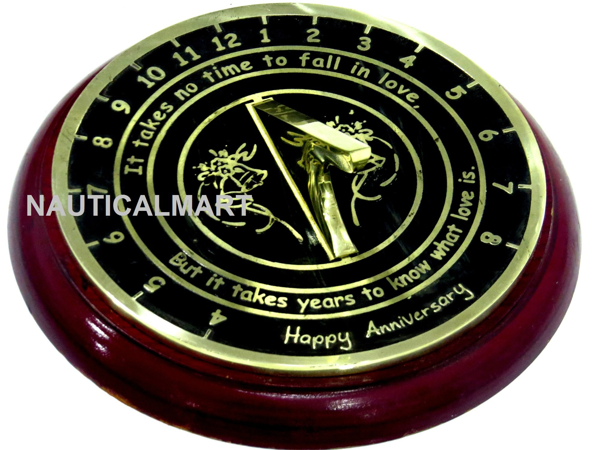 Wedding Anniversary Sundial Gift With Base by NAUTICALMART