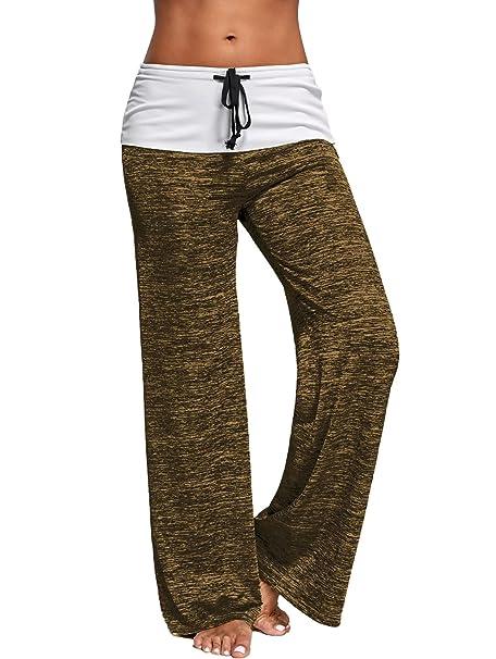 Amazon.com: guolezeev para mujer pierna ancha pantalones de ...