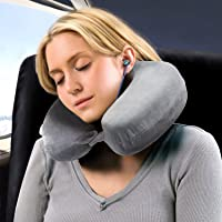 Bedsure Therapeutic Relief Travel & Neck Pillow