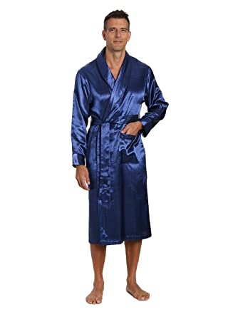 4c0de66160 Noble Mount Mens Premium Satin Robe at Amazon Men s Clothing store ...