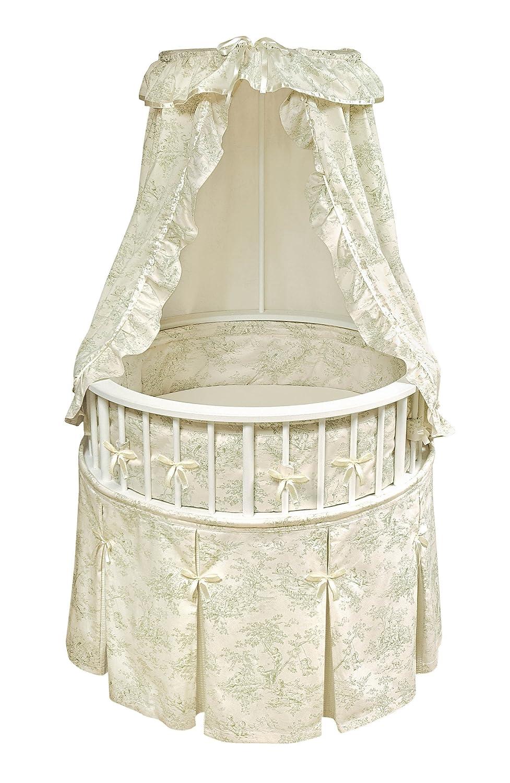 Amazon.com : Badger Basket Elegance Round Baby Bassinet, Black ...