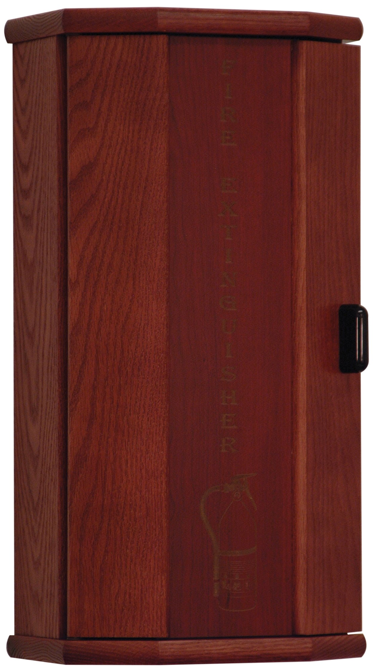 Wooden Mallet Fire Extinguisher Cabinet, 5-Pound, Mahogany/Engraved