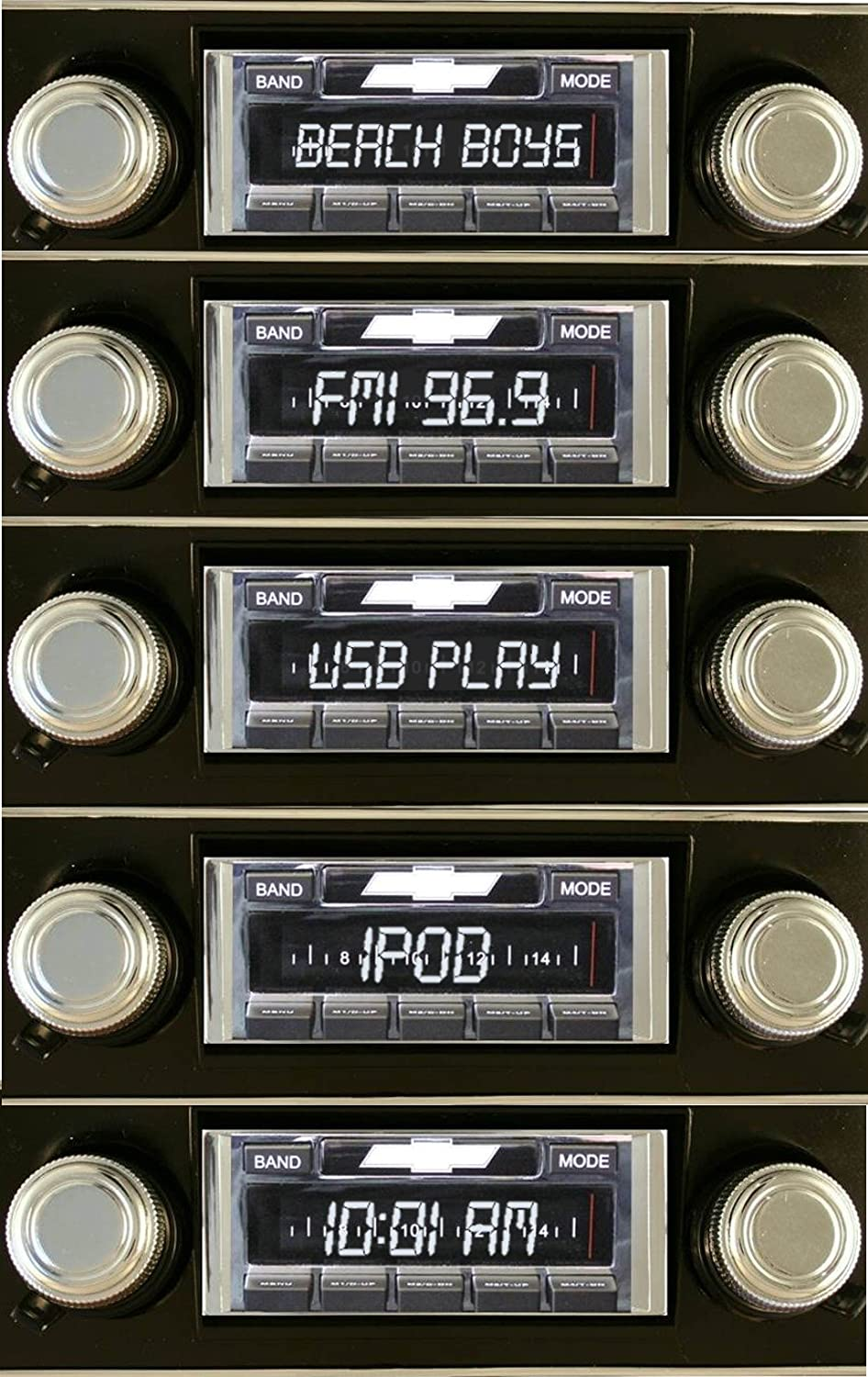 Custom Autosound Stereo compatible with 1955 Chevrolet One-Fifty USB Input # CAM-VECH-55-630 Two-Ten USA-630 II High Power 300 watt AM FM Car Stereo//Radio with AUX Input