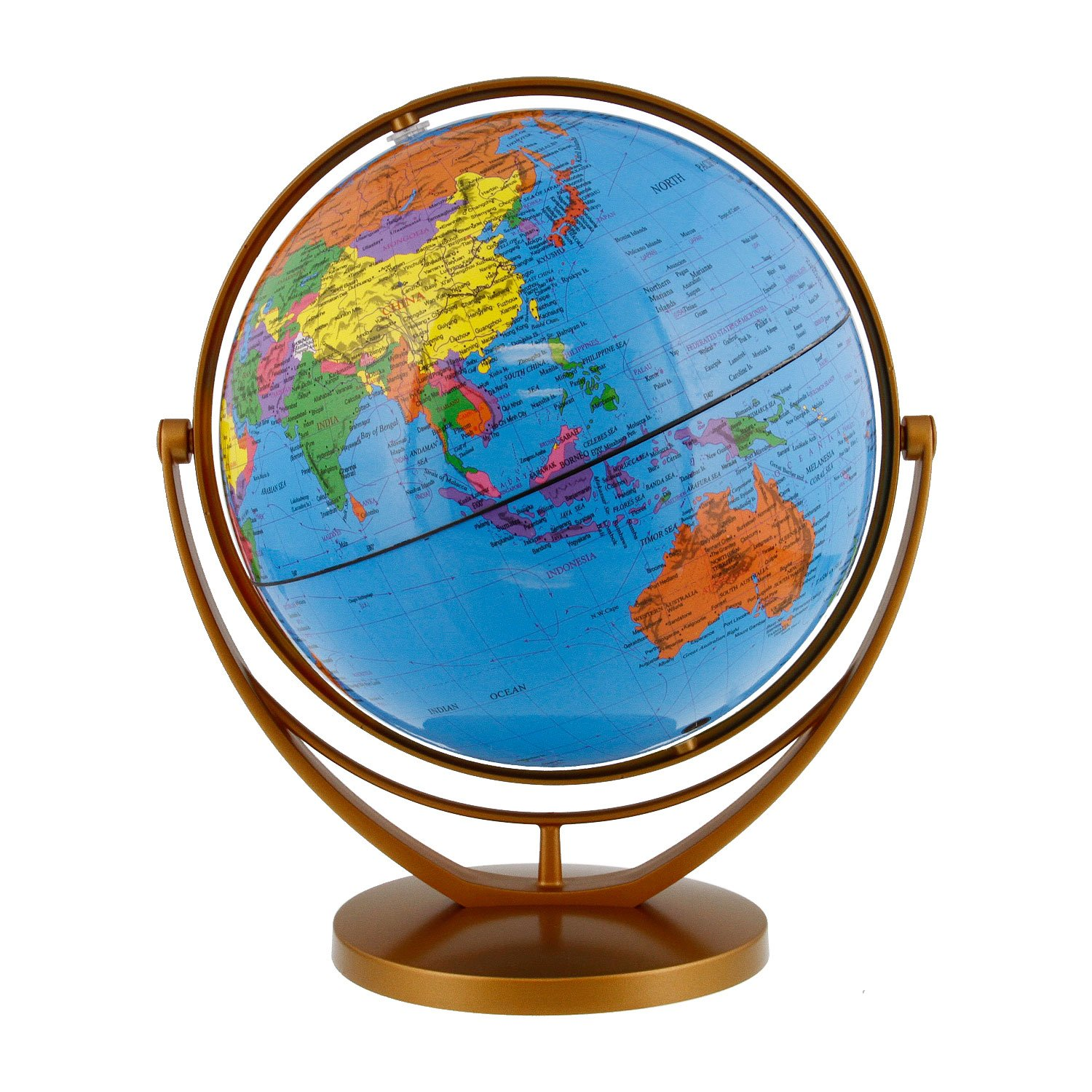 Amazon tcp global 8 20cm blue ocean desktop world globe gold amazon tcp global 8 20cm blue ocean desktop world globe gold base office products gumiabroncs Image collections