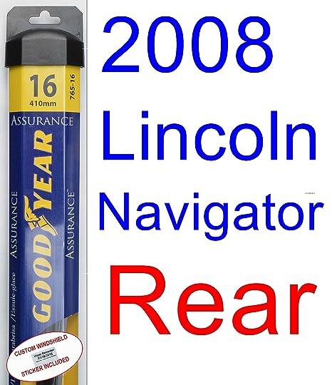 2008 Lincoln Navigator hoja de limpiaparabrisas de repuesto Set/Kit (Goodyear limpiaparabrisas blades-