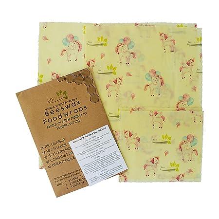 Amazon.com: Beeswax Food Wraps | Set of 5: 2 Small 2 Medium ...