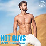 Hot Guys 2019 16 Month Wall Calendar 12 x 12 Inches