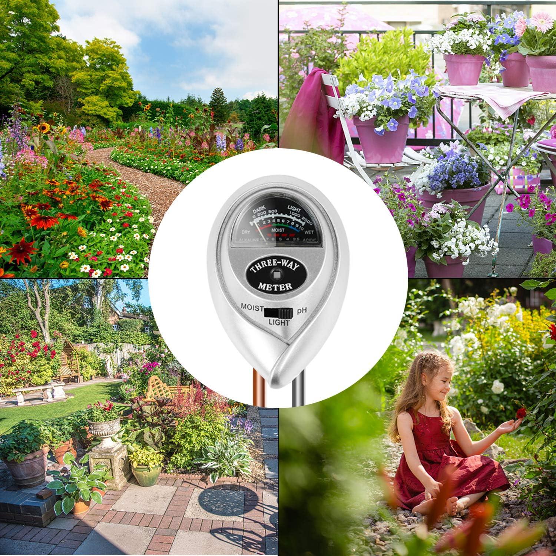 Garten Rasen,kein Batterien erforderlich(Nur f/ür Boden ) Bauernhof BIFY Bodentester,Boden Feuchtigkeit Meter,3 in 1 Bodentester f/ür Feuchtigkeit//Sonnenlicht//pH-Tester f/ür Pflanzenerde