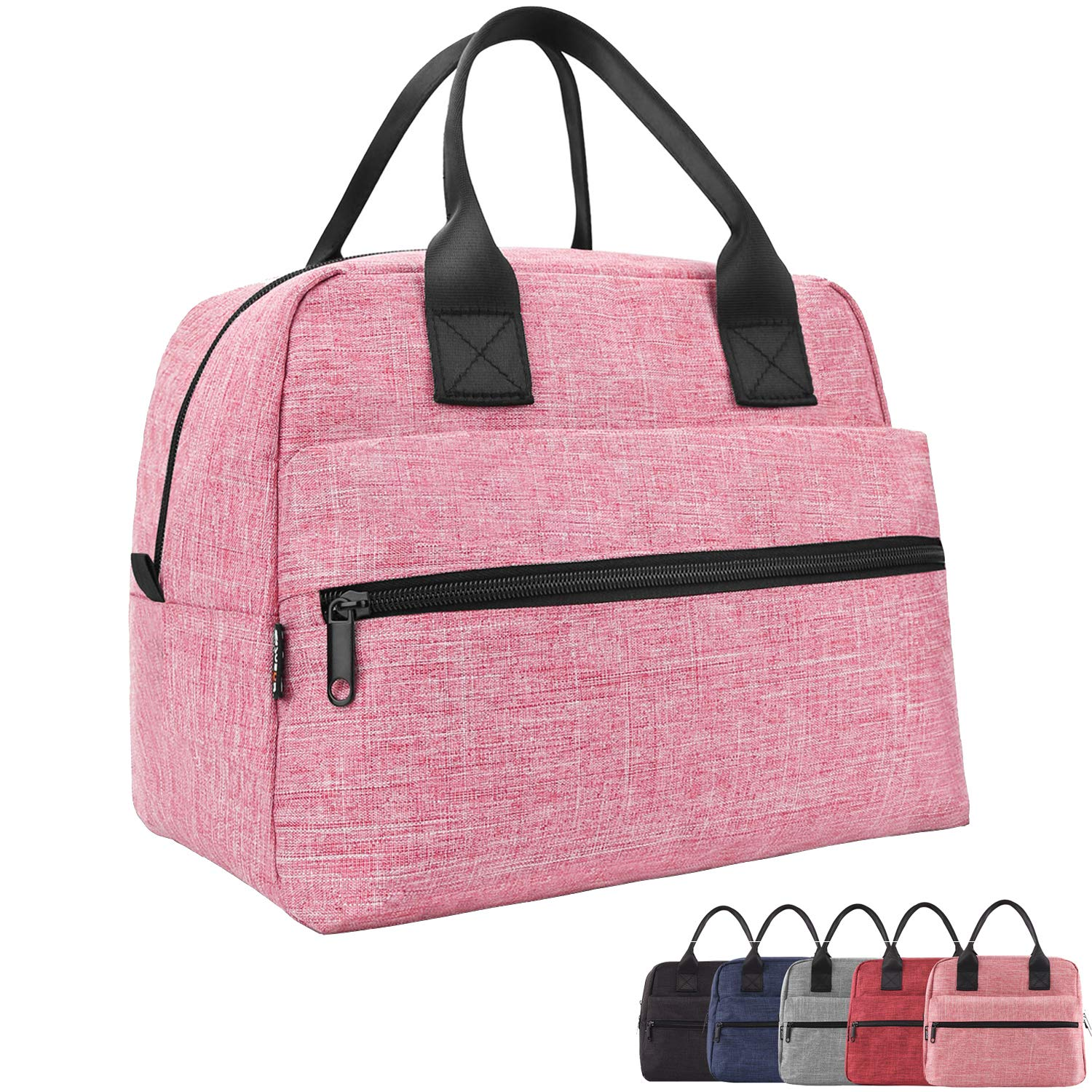 Lunch Bags For Women&Men Insulated Lunch Box For Lunch Cooler Tote(Pink) by EASYFUN