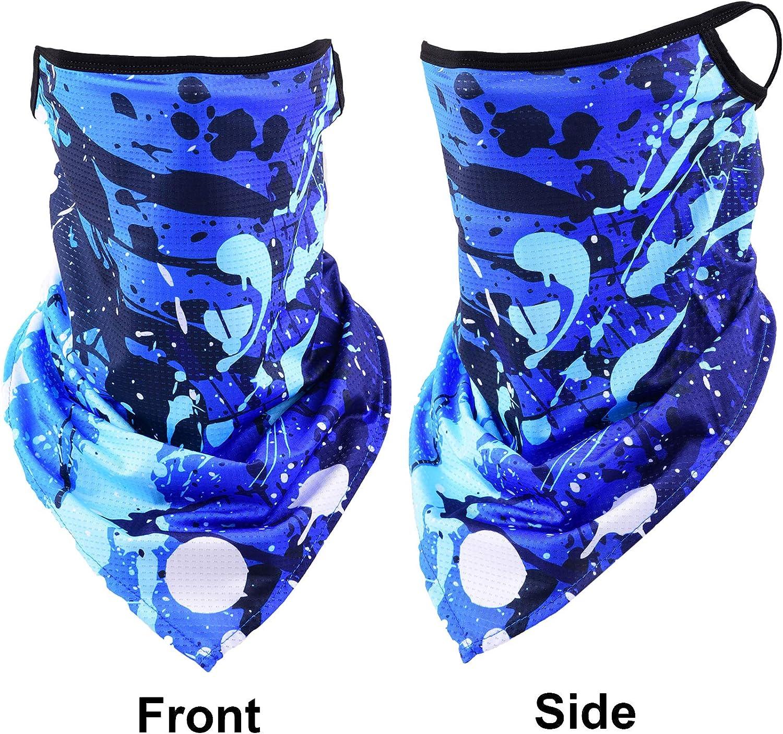 Xnuoyo Triangolo Passamontagna Elastica Antivento Sciarpa Multi-Funzione Bandane Fascia Protezione UV Viso Fascia per Yoga Ciclismo Escursionismo Correre