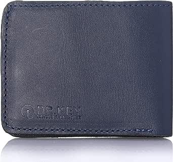 محفظة جلد طبيعي للجنسين من دكتور.كي - ازرق ناعم