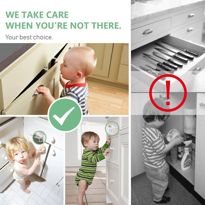 Schrank Schlösser für Kinder | Baby Sicherheit Schrank Riegel | ohne ...
