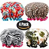 Amazon Price History for:Shower Cap, ESARORA 4 PACK Bath Cap Designed for Women Waterproof Double Layer Satin Lined