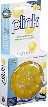 Compac Plink Garbage Disposal Cleaner and Deodorizer - Infuses and Freshens  Your Entire Kitchen - Waste Disposal Cleaner and Freshener, Lemon, Value ...