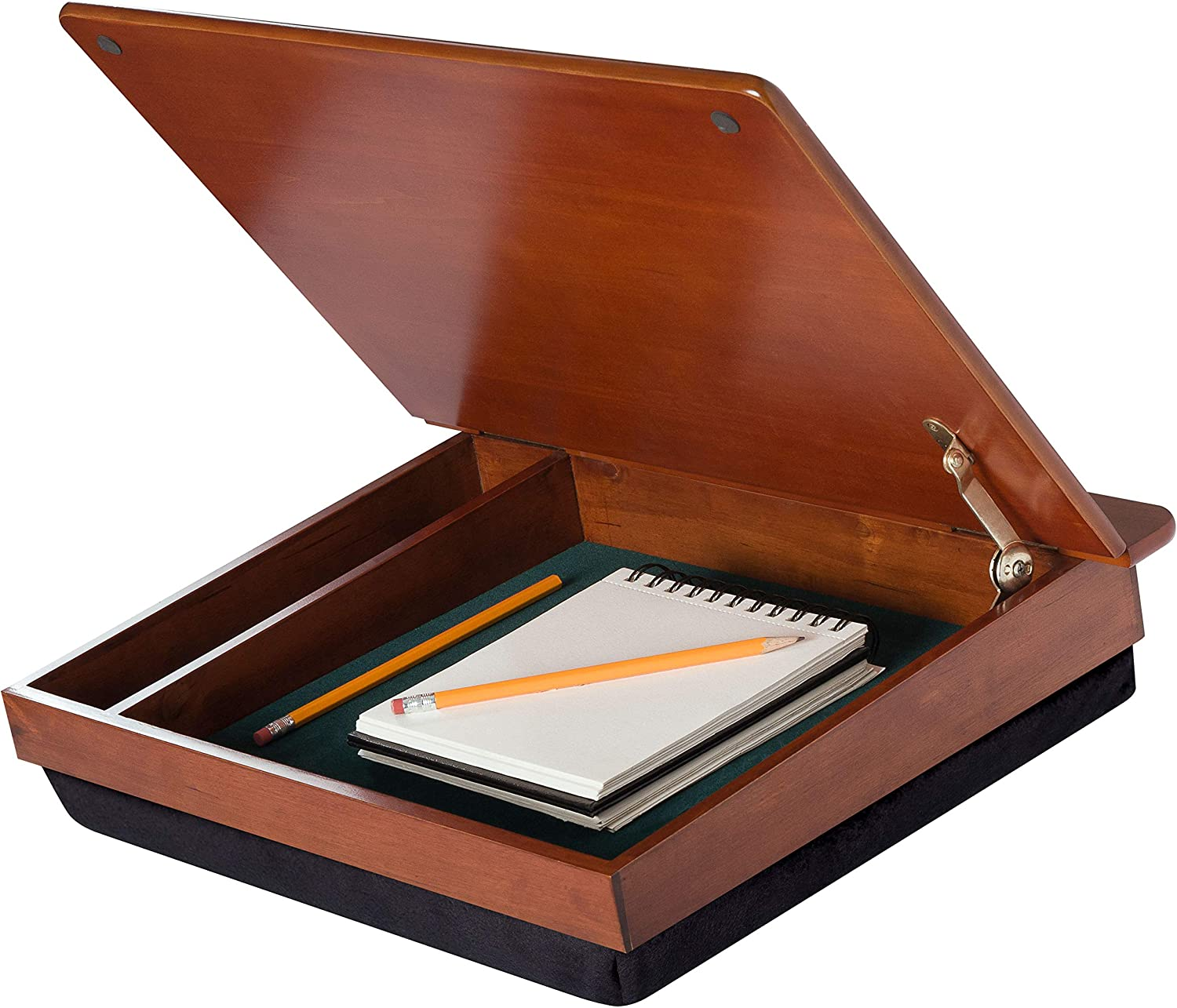LapDesk Schoolhouse Wood LapDesk with storage (45075): Computers & Accessories