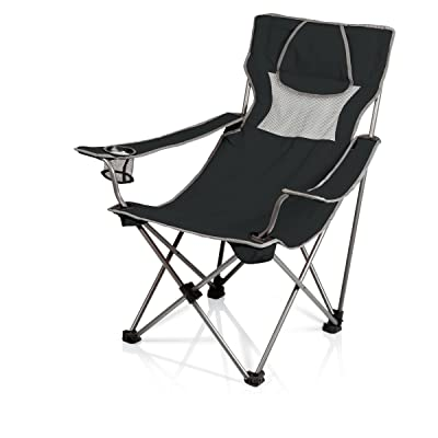 Picnic Time Campsite Folding Portable Chair, Black/Grey : Camping Chairs : Sports & Outdoors [5Bkhe0416562]