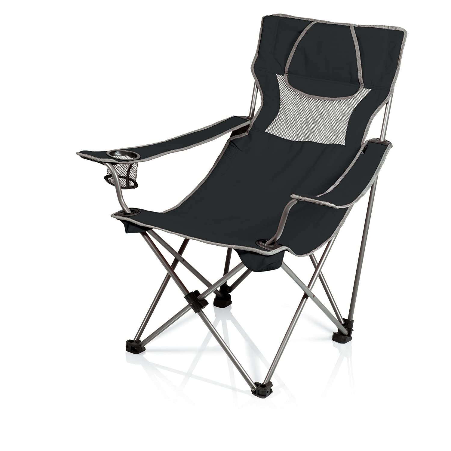 Delicieux Amazon.com : Picnic Time Campsite Folding Portable Chair, Black/Grey :  Camping Chairs : Sports U0026 Outdoors