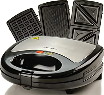 Ovente Black Nonstick Electric Sandwich Maker Set