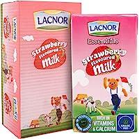 Lacnor Essentials Strawberry Flavoured Milk, 24 x 125 ml