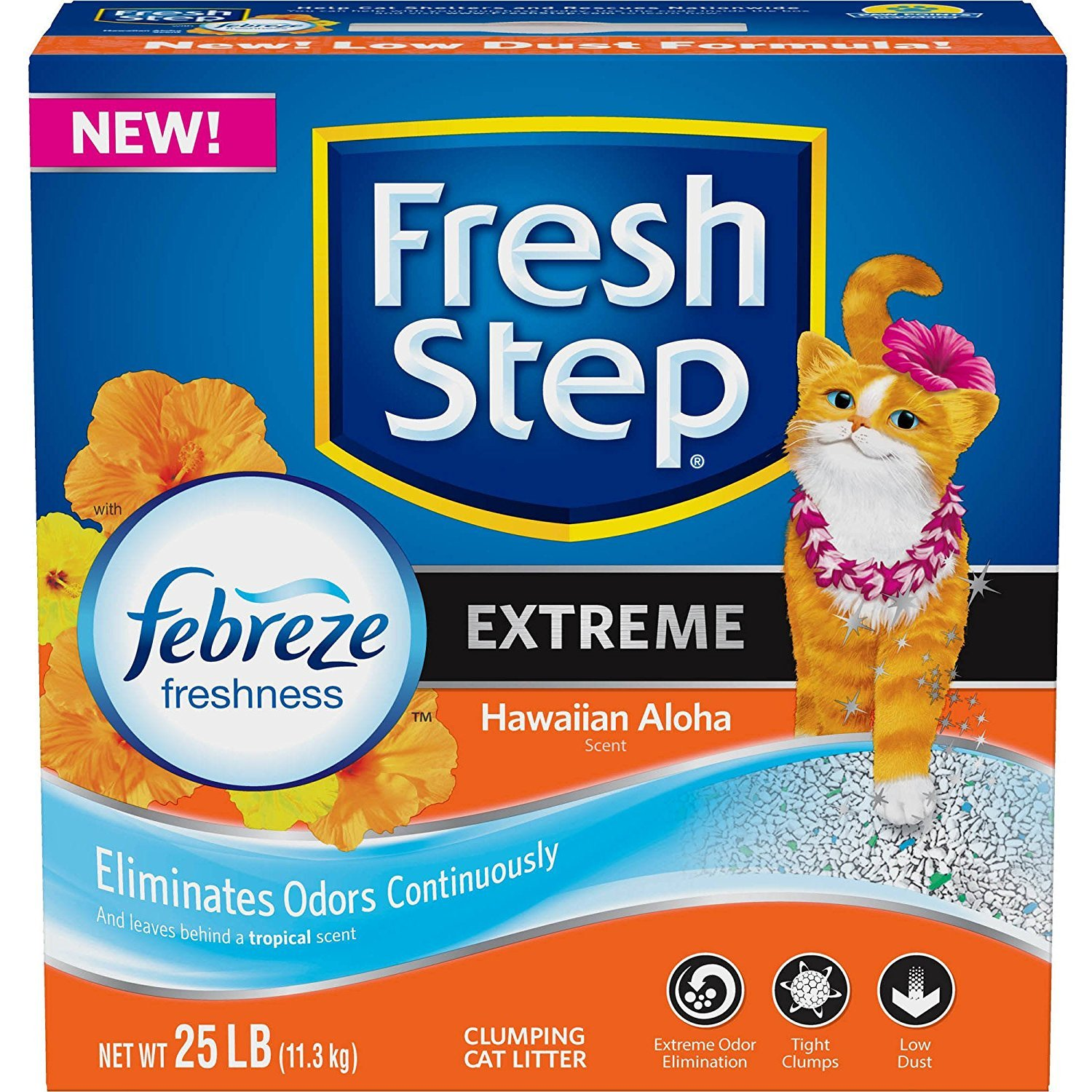 Fresh Step Extreme with Febreze Freshness Clumping Cat Litter 25 lbs by Fresh Step