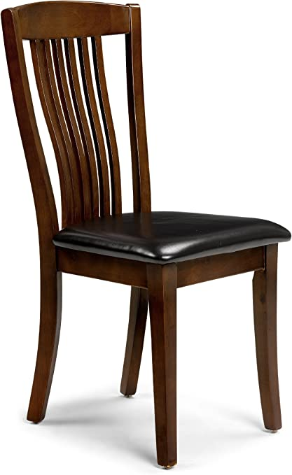 Julian Bowen Canterbury Dining Chairs, Mahogany Finish, Set of 2
