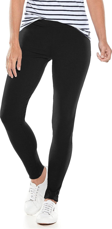 Coolibar Mujer Protección UV Legging, Todo el Año, Protección Frente a Rayos ultravioletas, Mujer, Color Negro, Tamaño Extra-Large amazon el-negro Algodón