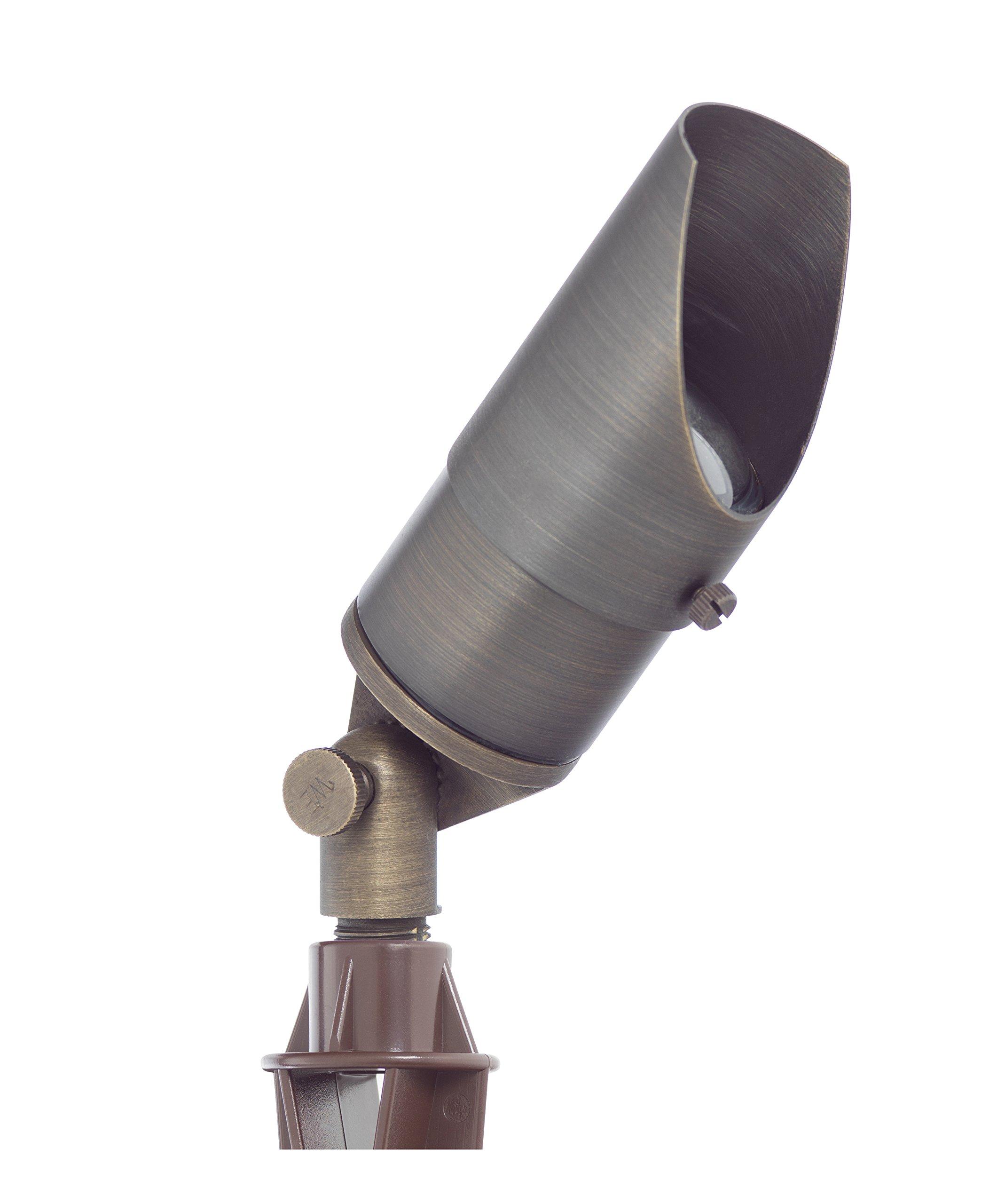 Westgate Lighting LED Directional Landscape Light- Antique Bronze Finish 12V LED Light–Convex Glass Lens LED Directional Light-7W LED Landscape Light- 3 Year Warranty (1, Bronze)
