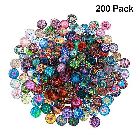 5 X 12mm cabujón de vidrio de ornamento PC-3 de varios colores