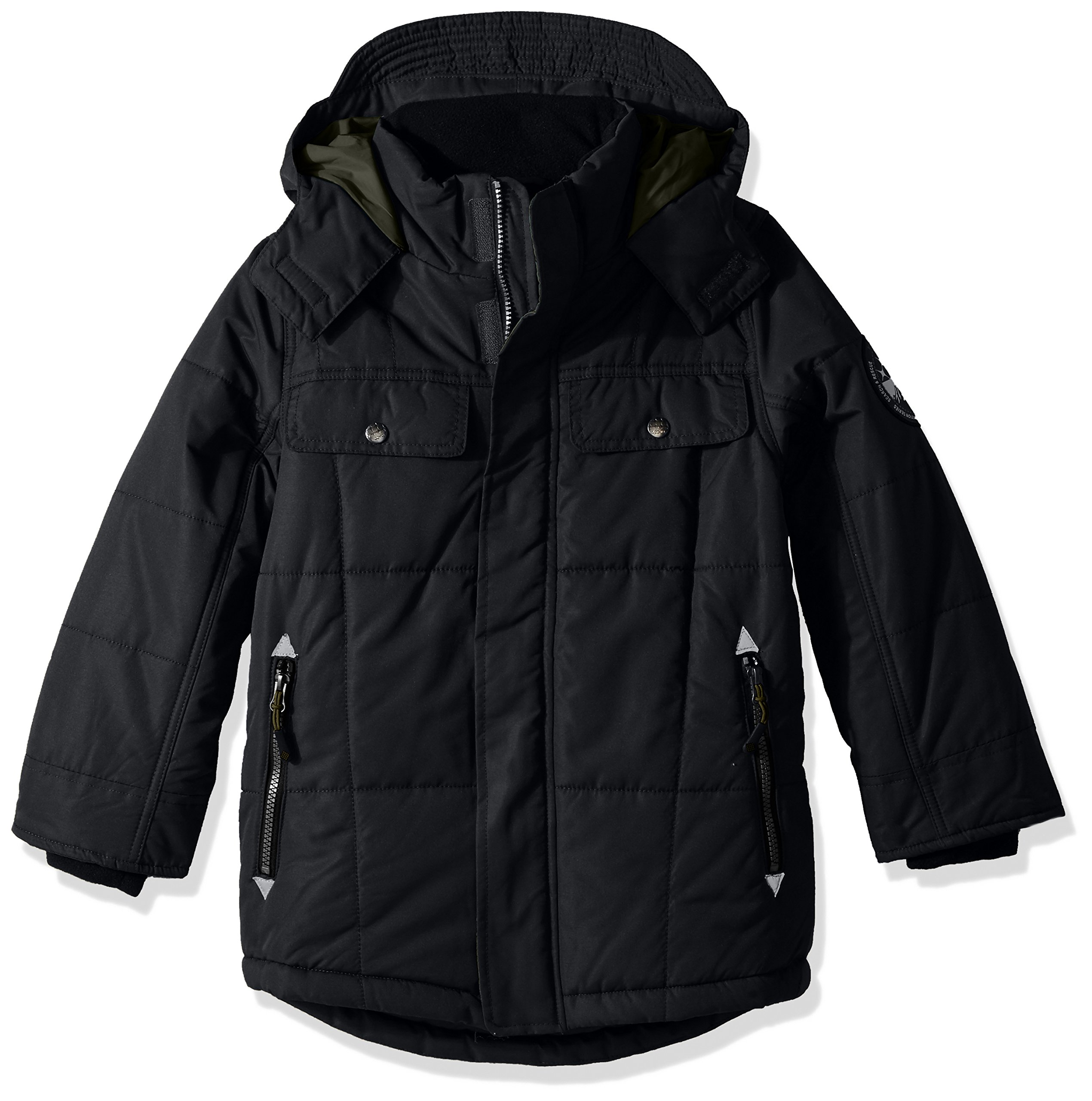 Big Chill Little Boys' Quiltd Expedition, Black, 6