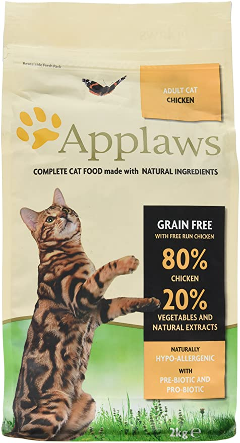 Applaws Comida seca para gatos, pollo/adulto, 2 kg
