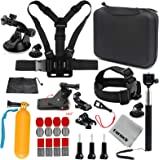 Gurmoir Travel Outdoor Sports Action Camera Accessories Kit for GoPro Hero 7 Black/6/5/4 Session5/4/SJ4000/5000/6000/AKASO/APEMAN/DBPOWER and More Action Cameras(GT06)
