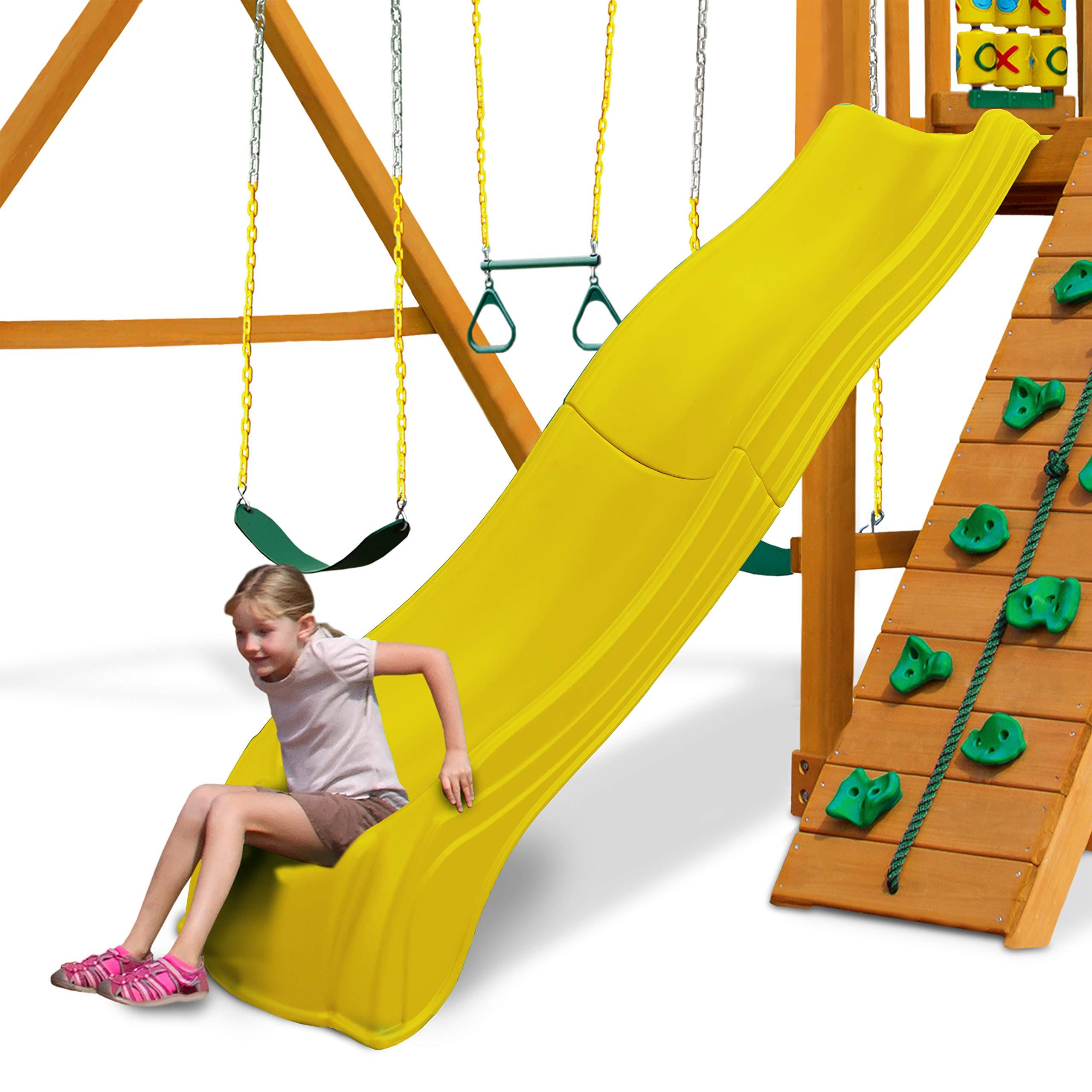 Swing-N-Slide WS 5031 Olympus Wave Slide 2 Piece Plastic Slide for 5' Decks, Yellow by Swing-N-Slide (Image #6)