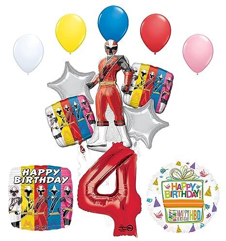 Amazon The Ultimate Power Rangers Ninja Steel 4th Birthday