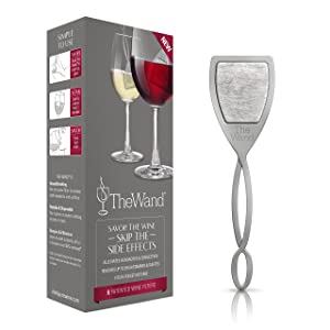 The Wand Wine Filter by PureWine | No More Wine Headaches | Removes Sulfites And Histamines | By-The-Glass (8-pack)