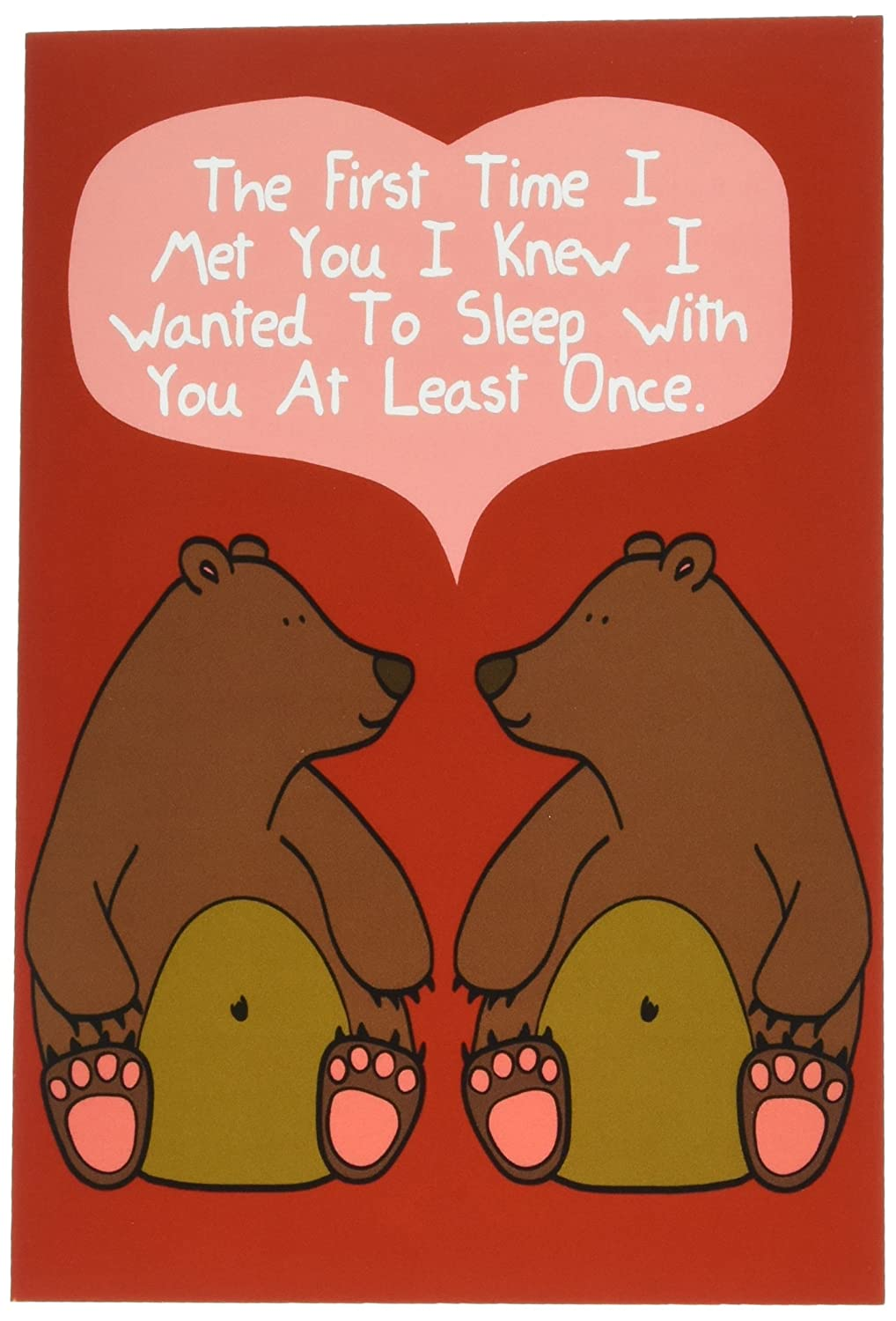 NobleWorks C1661VDG ''At Least Once'' Funny Valentine's Day Unique Greeting Card, 5