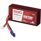 Dynamite B3800EC Reaction 7.4V 4000mAh 2S 50C LiPo Hard Case, 96mm