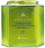 Harney & Sons Green Tea with Coconut, Ginger, and Vanilla Tea Tin - Green Tea with a Thai Twist - 2.67 Ounces, 30 Sachets