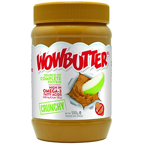 Wowbutter 100 Percent Nut Free Peanut Butter Crunchy 500 g (Pack of 3)