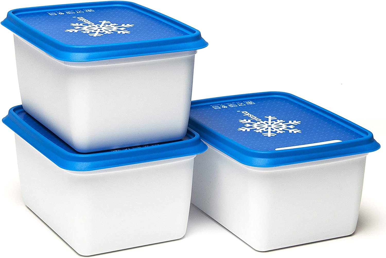 Amuse- Stackable and Unbreakable Alaska Commercial Grade Food Container set with Lid- Made in Europe (Set of 3-40 oz. each)