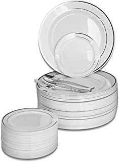 OCCASIONS   600 PCS / 120 GUEST Wedding Disposable Plastic Plate and Silverware Combo Set.    sc 1 st  Amazon.com & Amazon.com: WNA Masterpiece 557405 Crystal Cut Party Tumblers 10Oz ...