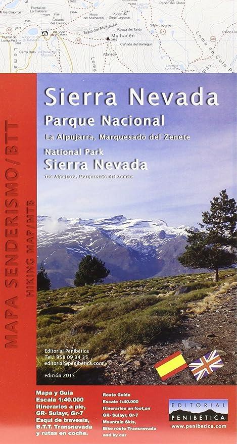 Mapa De La Alpujarra.Amazon Com Mapa Parque Nacional De Sierra Nevada Alpujarra