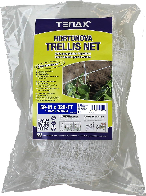 "Tenax 100521794 HORTONOVA Trellis NET LM, 59"" x 328', White"