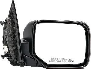 Dorman 955-1719 Passenger Side Power Door Mirror - Folding for Select Honda Models, Black