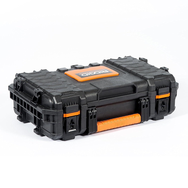 RIDGID 54338 Caja de herramientas organizadora profesional, Caja manual de herramientas para uso con la Caja de herramientas mediana profesional y Carro de ...