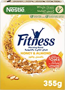 Nestle Fitness Honey & Almond Breakfast Cereal 355g