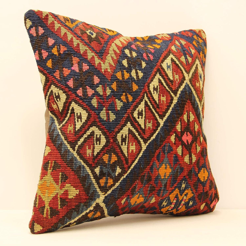 Tremendous Amazon Com Antique Kilim Pillow 16X16 Boho Pillow Southwest Ibusinesslaw Wood Chair Design Ideas Ibusinesslaworg