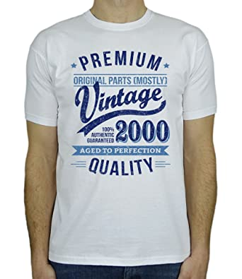 2000 Vintage Year - Aged To Perfection - 18th Birthday Gift/Present Mens T-