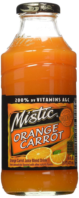 Mistic Orange-Carrot Juice 16 Fl Oz (12 Bottles)