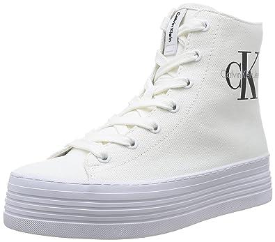Calvin Klein Jeans Zabrina, Baskets mode femme - Blanc (Wht), 40 EU ... 45eb3cdaf086